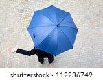 business man hidden under... | Shutterstock . vector #112236749