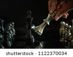 chess game competition business ... | Shutterstock . vector #1122370034