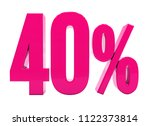 pink 40  percent discount sign  ... | Shutterstock . vector #1122373814