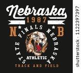 nebraska .college style sports... | Shutterstock .eps vector #1122397397