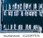 aerial shots of many ships... | Shutterstock . vector #1122397574