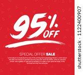 95 percent off 95  discount... | Shutterstock .eps vector #1122400907