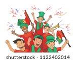 national football team... | Shutterstock .eps vector #1122402014