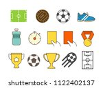 different soccer color icons... | Shutterstock .eps vector #1122402137