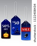 halloween tags promotion  vector | Shutterstock .eps vector #1122408434