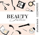 beauty salon makeup flyer ... | Shutterstock .eps vector #1122409055