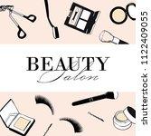 beauty salon makeup flyer ... | Shutterstock .eps vector #1122409055