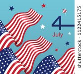 fourth of july independence day.... | Shutterstock .eps vector #1122415175