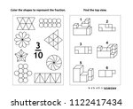 two visual math puzzles and...   Shutterstock . vector #1122417434