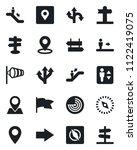 set of vector isolated black... | Shutterstock .eps vector #1122419075