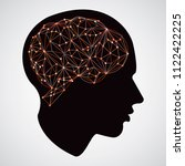 creative cloud polygon brain... | Shutterstock .eps vector #1122422225