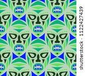 seamless pattern. indian... | Shutterstock .eps vector #1122427439