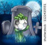 a sports halloween graveyard... | Shutterstock .eps vector #1122435551