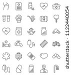 thin line vector icon set  ... | Shutterstock .eps vector #1122440054