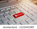 access enter key and keys icon. ... | Shutterstock . vector #1122442385