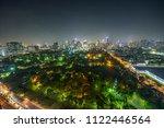 night skyline of midtown...   Shutterstock . vector #1122446564