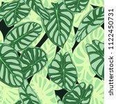 seamless tropical pattern.... | Shutterstock .eps vector #1122450731
