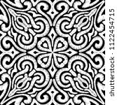 embroidered black and white... | Shutterstock .eps vector #1122454715