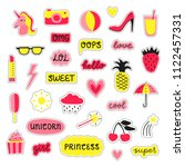 collection of girly pop... | Shutterstock .eps vector #1122457331