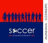 silhouette of soccer team ...   Shutterstock .eps vector #1122466391