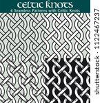seamless patterns with celtic... | Shutterstock .eps vector #1122467237