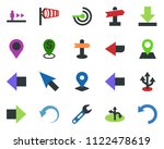 colored vector icon set  ... | Shutterstock .eps vector #1122478619