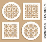 templates for laser cutting ... | Shutterstock .eps vector #1122480371