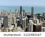 chicago cityscape top view  usa | Shutterstock . vector #1122483167