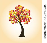 autumn maple with colorful... | Shutterstock .eps vector #112248935
