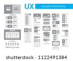wireframe screen for website | Shutterstock .eps vector #1122491384