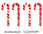 Set Of Isolated Candy Canes On...