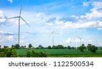 landscape of wind turbine in... | Shutterstock . vector #1122500534