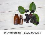 mulberry extract  oil  tincture ... | Shutterstock . vector #1122504287