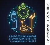 gym neon light concept icon.... | Shutterstock .eps vector #1122504884