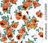 simple cute pattern in small... | Shutterstock . vector #1122510089
