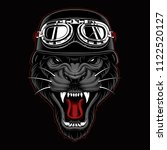 panther biker mascot on dark... | Shutterstock .eps vector #1122520127