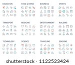 big collection of linear icons. ... | Shutterstock .eps vector #1122523424