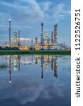 oil refinery industry at... | Shutterstock . vector #1122526751