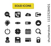 ui icons set with zoom out ...