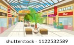 shopping mall corridor with... | Shutterstock .eps vector #1122532589