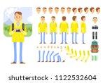 tourist character creation set... | Shutterstock .eps vector #1122532604