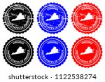 virginia   rubber stamp  ... | Shutterstock .eps vector #1122538274