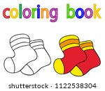 book coloring  socks | Shutterstock .eps vector #1122538304
