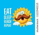 eat sleep beach repeat vector...   Shutterstock .eps vector #1122540215