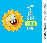eat sleep beach repeat vector...   Shutterstock .eps vector #1122540251