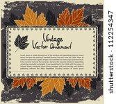 vintage leaf background   Shutterstock .eps vector #112254347