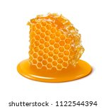 honeycomb. honey cell slice... | Shutterstock . vector #1122544394