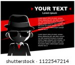 vector man in black suit... | Shutterstock .eps vector #1122547214