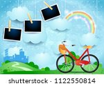 surreal landscape with small...   Shutterstock .eps vector #1122550814