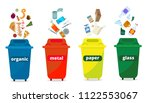 trash  garbage containers ... | Shutterstock .eps vector #1122553067